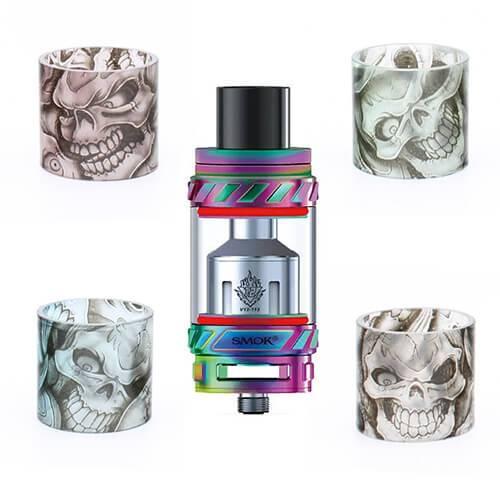 SMOK TFV8 & TFV12 Custom Glass by VCG Customs - Skull - TFV8 Cloud Beast / Green