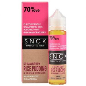 SNCK Snacks E-Liquid - Strawberry Rice Pudding & Graham Crackers - 60ml / 0mg