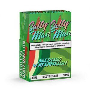 Salty Man Vapor eJuice - Seedless Watermelon - 2x30ml / 50mg