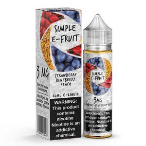 Simple E-Fruit - Strawberry Blueberry Peach - 60ml / 0mg