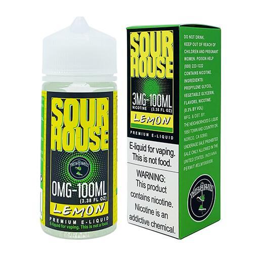 Sour House by The Neighborhood - Sour Lemon - 100ml / 6mg