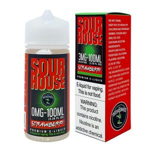 Sour House by The Neighborhood - Sour Strawberry - 100ml / 0mg