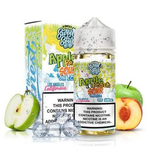 Sweet & Sour Eliquids On Ice - Apple Peach Sour Rings On Ice - 100ml / 0mg