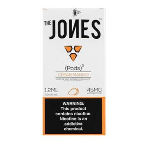 The Jones - Compatible Flavor Pods - Clear Mango (5 Pack) - 5 Pack - 1.2ml / 45mg