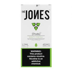 The Jones - Compatible Flavor Pods - Minty Fresh (5 Pack) - 5 Pack - 1.2ml / 45mg