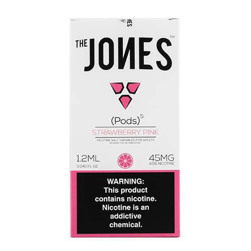 The Jones - Compatible Flavor Pods - Strawberry Pink (5 Pack) - 5 Pack - 1.2ml / 45mg