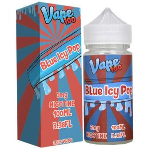 Vape 100 eJuice - Blue Icy Pop - 100ml / 0mg