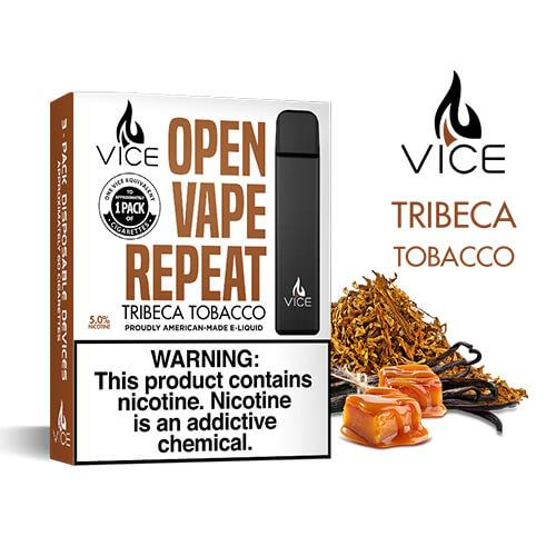 Vice - Portable/Disposable Device - Tribeca Tobacco (3 Pack) - 3 Pack / 50mg