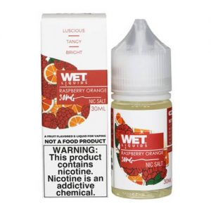 Wet Liquids SALT - Raspberry Orange eJuice - 30ml / 30mg