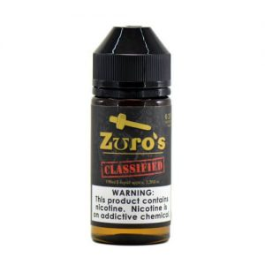 Zuro's MFG Premium eLiquids - Zuro's Classified - 30ml / 0mg