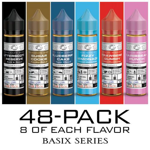 Basix Series by Glas E-Liquid - Intro Pack - 48x60ml / 0