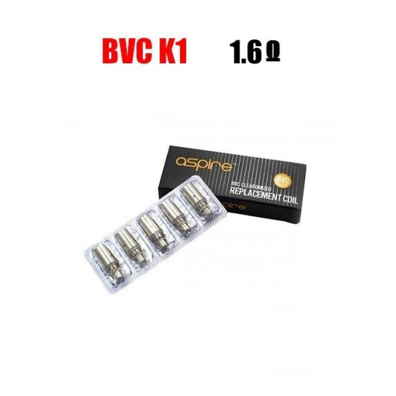 Aspire BVC K1 Coils - 1.6 ohm (3.0-4.2V)
