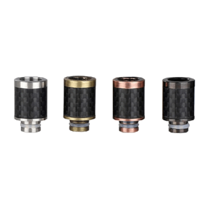 Carbon Fiber Drip Tip (Wide Bore) - Stainless Steel