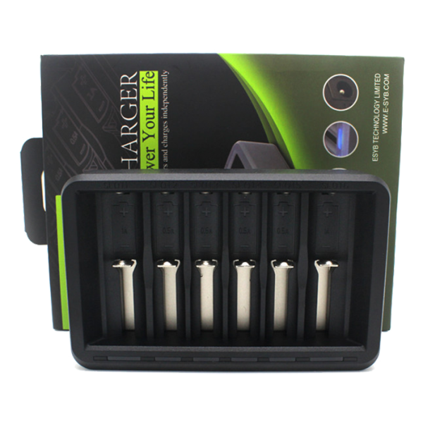 ESYB S6 6-Bay High Drain Battery Charger - Default Title