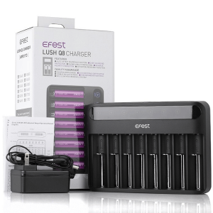 Efest Lush Q8 8-Slot Intelligent Battery Charger