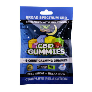 Hemp Bombs Melatonin CBD Gummies 5-Count