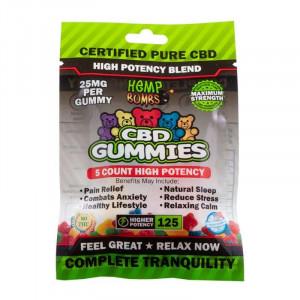 Hemp Bombs HP CBD Gummies 5-Count