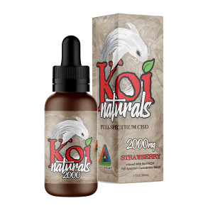 KOI Naturals CBD Tinctures Strawberry