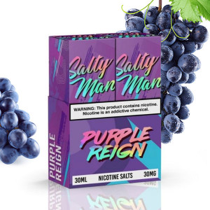 Schedule Product Salty Man Purple Reign Nicotine Salt E-Liquid (2x 30mL's)