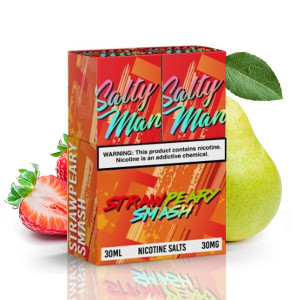 Salty Man Strawpeary Smash Nicotine Salt E-Liquid (2x 30mL's)