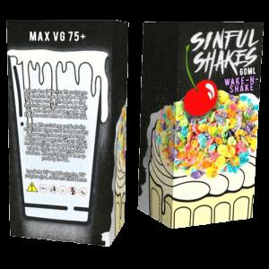 Sinful Shakes E-Liquid - Wake-N-Shake - 60ml - 60ml / 0mg