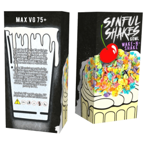 Sinful Shakes E-Liquid - Wake-N-Shake - 60ml - 60ml / 0mg