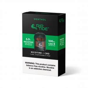 Riptide Menthol Tobacco-Free Nicotine & CBD Vape Pod - (1 Pack)