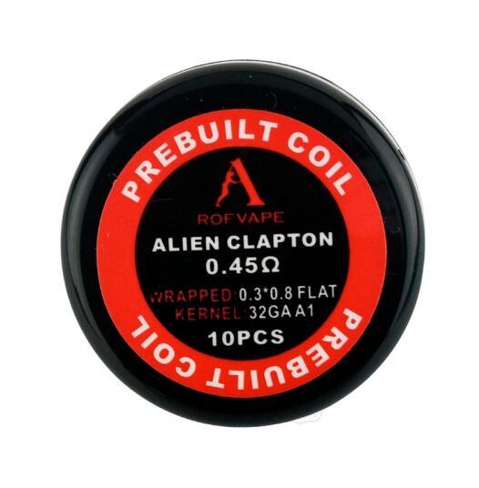 Rofvape Alien Clapton Prebuilt Coils 0.45ohm - 10pcs/pack