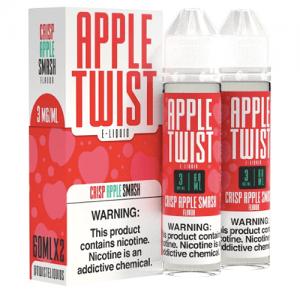 Apple Twist E-Liquids - Crisp Apple Smash - 2x60ml / 0mg