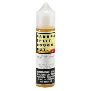 Dessert by Bomb Sauce E-Liquid - Banana Split Doughnut - 120ml / 6mg
