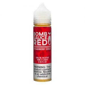 Bomb Sauce E-Liquid Red - Strawberry Donut - 60ml / 0mg