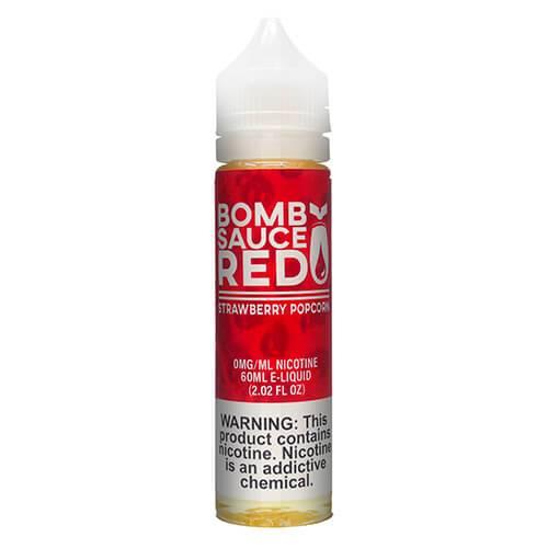 Bomb Sauce E-Liquid Red - Strawberry Popcorn - 60ml / 12mg