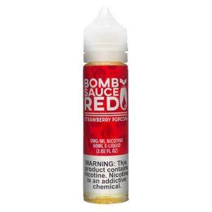 Bomb Sauce E-Liquid Red - Strawberry Popcorn - 60ml / 0mg
