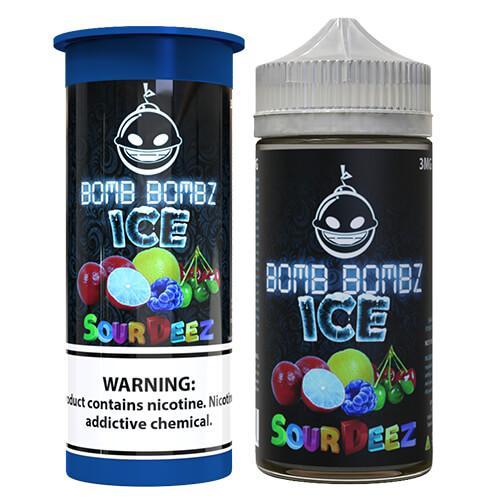 Bomb Bombz Premium E-Liquid - Sour Deez ICE - 100ml / 0mg