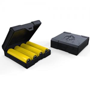 Chubby Gorilla Vaping Products - Quad Transparent Battery Case - Black - Default Title