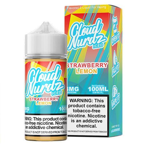 Cloud Nurdz TFN - Strawberry Lemon ICED - 100ml / 0mg