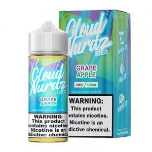 Cloud Nurdz eJuice - Grape Apple Iced - 100ml / 3mg