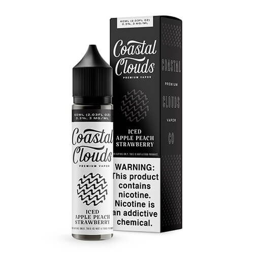 Coastal Clouds - Iced Apple Peach Strawberry - 60ml / 3mg