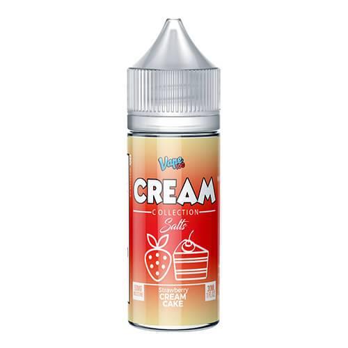 Cream Collection by Vape 100 Salts - Strawberry Cream Cake - 30ml / 35mg