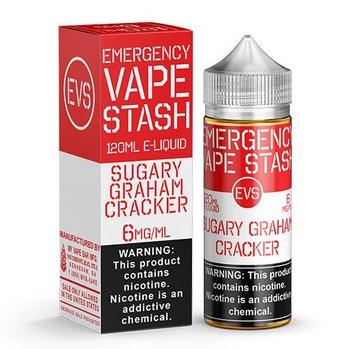 Emergency Vape Stash - Sugary Graham Cracker - 120ml / 0mg