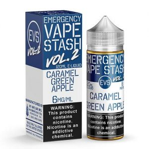 Emergency Vape Stash Vol 2 - Caramel Green Apple - 120ml / 0mg