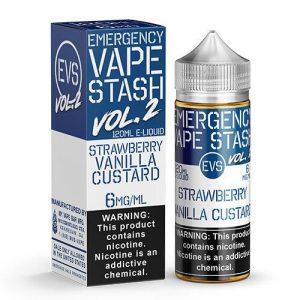 Emergency Vape Stash Vol 2 - Strawberry Vanilla Custard - 120ml / 6mg