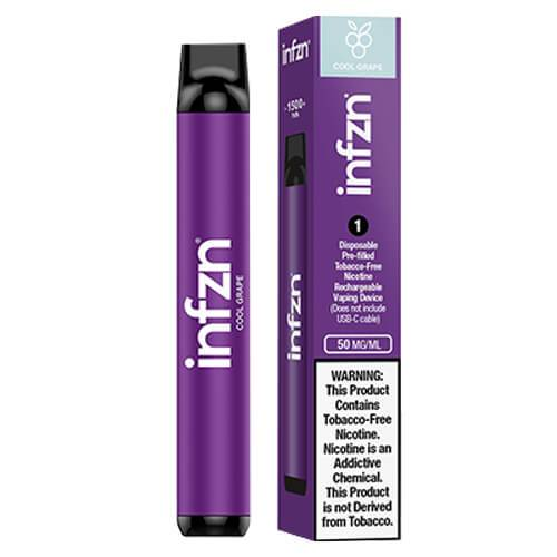 INFZN by Brewell - Disposable Vape Device - Cool Grape - Single / 50mg