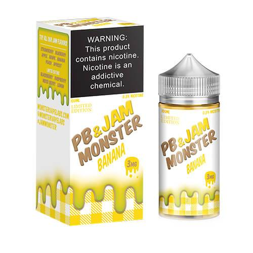 Jam Monster eJuice - PB & Banana Jam - 100ml / 3mg