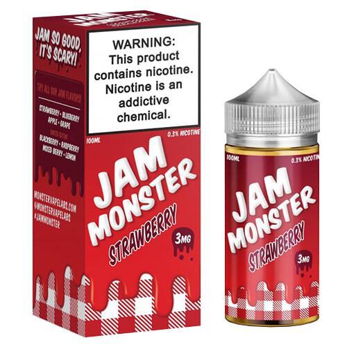 Jam Monster eJuice - Strawberry - 100ml / 0mg