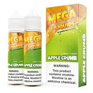 MEGA E-Liquids Sub Ohm Salts - Apple Crumb - 2x60ml / 3mg