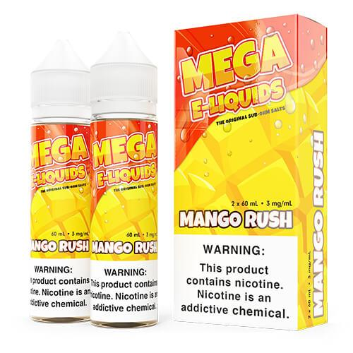 MEGA E-Liquids Sub Ohm Salts - Mango Rush - 2x60ml / 6mg