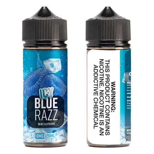 OOO E-Juice ICE - Icy Blue Razz - 120ml / 0mg