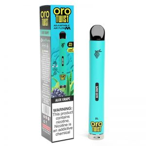 ORO Max Flow Twist - Disposable Vape Device - Aloe Grape - Single / 50mg