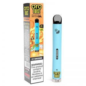 ORO Max Flow Twist - Disposable Vape Device - Icy Tangerine - Single / 50mg